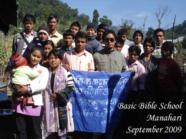 Bible School 2009 in Manahari in Makwanpur
