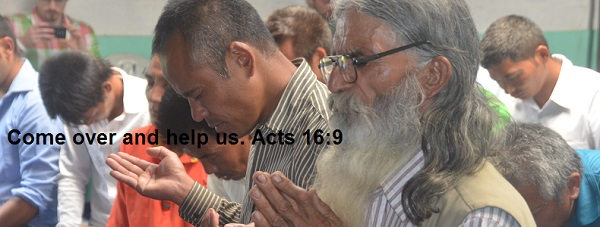 Christians in Nepal praying